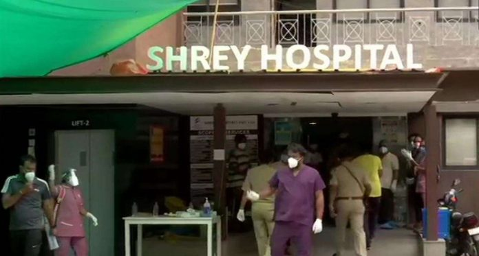 Fire in Ahmedabad Hospital
