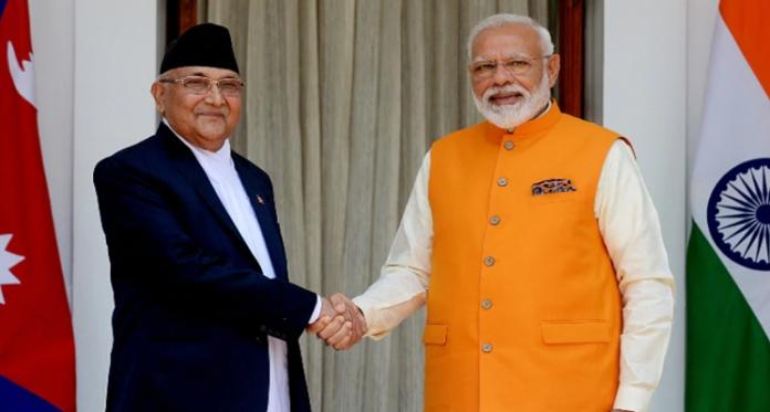 KP Oli call PM Modi