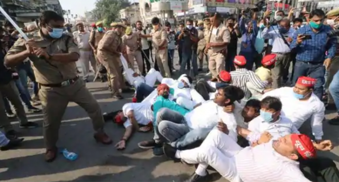 protest in lucknow