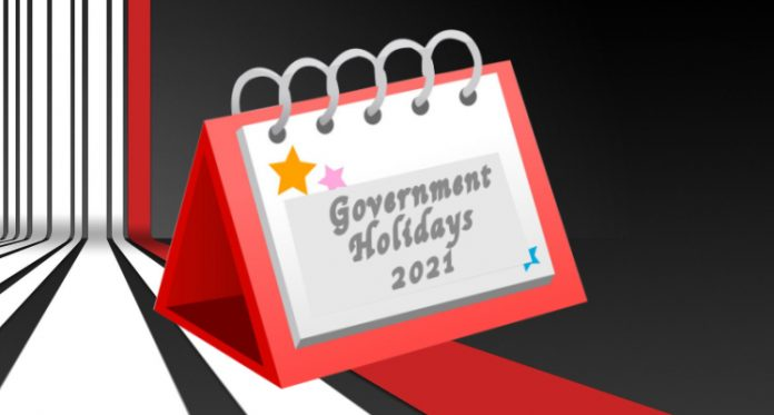 Government Holiday List 2021